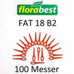 100 lames coupe-gazon FAT 18 B2 LIDL FLORABEST IAN 71315 + IAN 86154 + IAN 95940 de la marque Grizzly image 1 produit