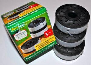 3 x Coupe-bordures bobines fRT a1 fRT 430, 450/10, 430, fRT fRT 500/8 avec double fil automatique de la marque Florabest image 0 produit