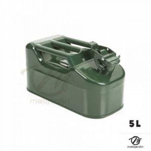 Bidon de 5 litres acier armé. Jerrican métal vert olive pour hydrocarbures. Type US de la marque matijardin image 0 produit