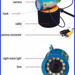 BOBLOV 30m IR 7 pouces 1000TVL Fish Finder Détecteur des poissons Sondeur des poissons Caméra vidéo sous-marine de pêche de la marque Eyoyo image 5 produit