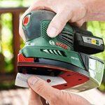 """Bosch Ponceuse multifonction """"Expert"""" sans fil PSM 18 Li, 1 batterie 18V 2,5 Ah, 3 feuilles abrasives, technologie Syneon 06033A1303 de la marque Bosch image 4 produit"""