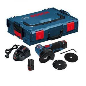 Bosch Professional 06019F2002 Meuleuse Angulaire sans-fil GWS 12V-76 2x2,5 Ah L-BOXX, 10.8 V, Bleu de la marque Bosch Professional image 0 produit