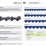 Chaîne Pro 35cm pour tronçonneuse 3/8-050-1,3mm-50 Entraineurs = 91-50E de la marque Jardiaffaires image 5 produit