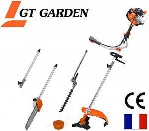 Débroussailleuse thermique 4 en 1 avec guidon : tronconneuse - debroussailleuse - taille-haies et rallonge de la marque GT Garden image 0 produit