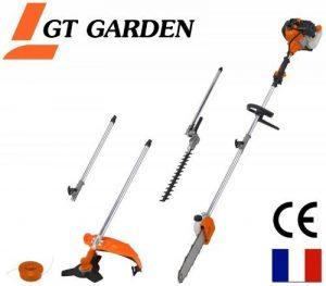 Débroussailleuse thermique 4 en 1 avec rallonge : tronconneuse - debroussailleuse - taille-haies de la marque GT Garden image 0 produit