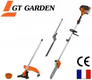 Débroussailleuse thermique 4 en 1 : tronconneuse - debroussailleuse - taille-haies de la marque GT Garden image 0 produit