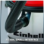 Einhell Aspirateur eaux et poussières TC-VC 1812 S (1250 W, 180 mbar, Cuve en INOX 12 L anti-corrosion, Longueur tuyau : 1,5 m, Diamètre tuyau : 36 mm, Livré avec accessoires : Flexible d'apiration, 3 tubes, grande buse, buse pour rainures, adaptate image 3 produit