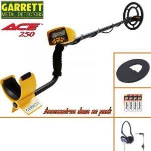 Garrett - détecteur de métaux ACE 250 livré avec son protège disque + casque filaire pliable de la marque GARRETT image 0 produit