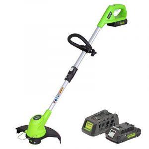 Greenworks Tools Coupe-bordure sans fil 24V Lithium-ion avec batterie de 2Ah et chargeur - 2100107VA de la marque Greenworks Tools image 0 produit
