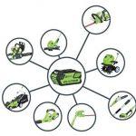 Greenworks Tools Débroussailleuse 35cm sans fil 40V Lithium-ion avec 2 batteries de 2Ah et chargeur - 1301507UC de la marque Greenworks Tools image 1 produit