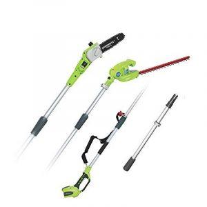 Greenworks Tools Élagueuse et taille-haie sur perche sans fil 40V Lithium-ion (sans batterie ni chargeur) - 1300607 de la marque Greenworks Tools image 0 produit