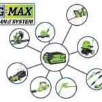 Greenworks Tools Élagueuse et taille-haie sur perche sans fil Lithium-ion avec batterie de 2Ah et chargeur 40V - 1300607UA de la marque Greenworks Tools image 5 produit