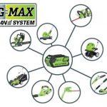 Greenworks Tools Souffleur/Aspirateur à feuilles sans fil 40V Lithium-ion (sans batterie ni chargeur) - 24227 de la marque Greenworks Tools image 1 produit