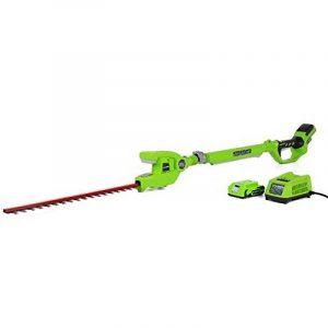 Greenworks Tools Taille-haie sans fil sur perche longue portée 24V Lithium-ion avec batterie de 2Ah et chargeur - 2200207VA de la marque Greenworks Tools image 0 produit
