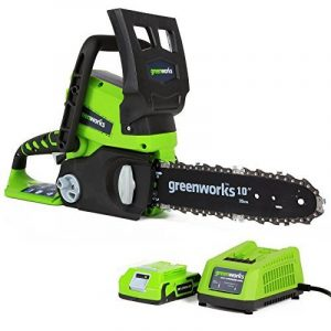 Greenworks Tools Tronçonneuse sans fil 24V Lithium-ion avec batterie de 2Ah et chargeur - 2000007VA de la marque Greenworks Tools image 0 produit
