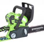 Greenworks Tools Tronçonneuse sans fil 30cm 40V Lithium-ion (sans batterie nichargeur) - 20117 de la marque Greenworks Tools image 1 produit