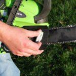 Greenworks Tools Tronçonneuse sans fil 30cm 40V Lithium-ion (sans batterie nichargeur) - 20117 de la marque Greenworks Tools image 4 produit
