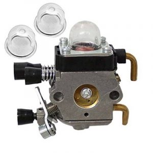 HIPA Carburateur et 2 Pompes d'Amorçage pour Coupe-bordure STIHL FS45 FS45C FS45L FS46 KM55 HL45 KM55R FC55 Remplace ZAMA C1Q-S66 C1Q-S71 C1Q-S97 A C1Q-S143 C1Q-S153 C1Q-S186 C1Q-S186A C1Q-S186B de la marque HIPA image 0 produit