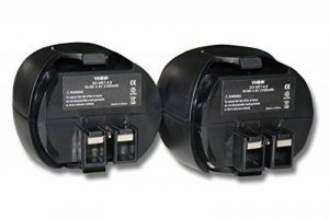 Lot 2 batteries Ni-MH vhbw 2100mAh (4.8V) pour outils Metabo Powergrip 2, Powergrip II, Powergrip2. Remplace: Metabo 6.27270, 6.27271, 6.27273 6.31858 de la marque vhbw image 0 produit