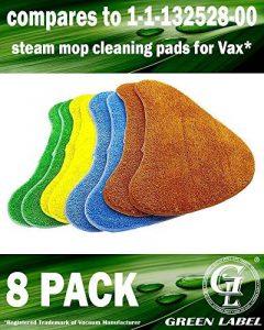 Lot de 8. Lingettes microfibres multicolores de rechange pour les balais vapeur Vax (Alternative à Type 1 Total Home) de la marque Green Label image 0 produit