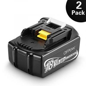 Ofpow 2-pack 18V 5000mAh Li-ion Batterie de Remplacement pour Makita BL1860 BL1850 BL1840 BL1830 BL1815 BL1835 BL1845 LXT400 194205-3 194309-1 de la marque Ofpow image 0 produit