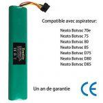 Tomkity 4000mAh 12V Batterie pour Aspirateur Neato BotVac 70e, 75, 80, 85, D75, D80, D85 de la marque Tomkity image 1 produit