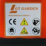 Tronçonneuse thermique 52 cm3, 3 CV, guide 45 cm, 2 chaînes de la marque GT Garden image 4 produit