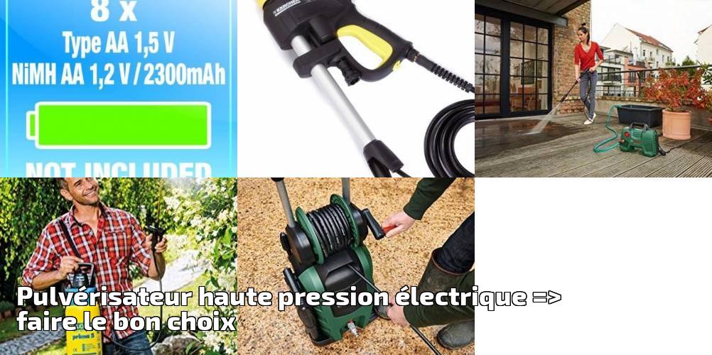 Pulv risateur haute pression lectrique faire le bon choix pour 2018 outillage de jardin - Pulverisateur de jardin electrique ...